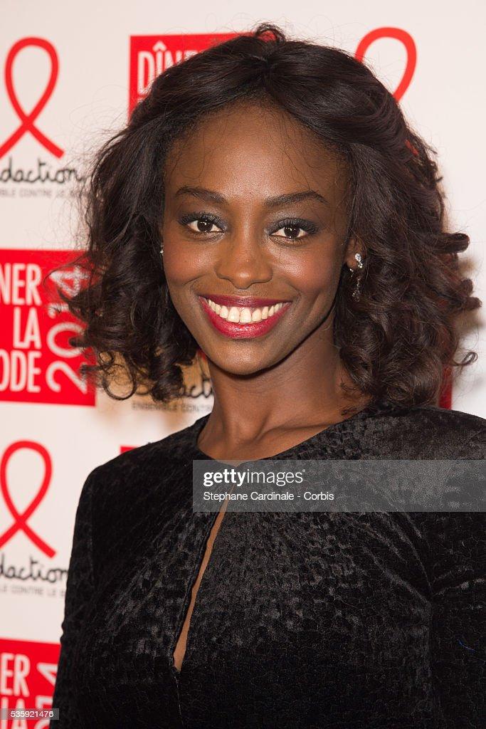 Aissa Maiga attends the Sidaction Gala Dinner at Pavillon d'Armenonville, in Paris.