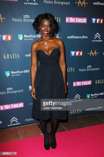 Aissa Maiga attends the 'Trophees Du Film Francais' 21th Ceremony at Palais Brongniart on February 4 2014 in Paris France