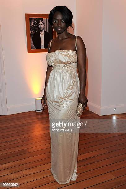 CANNES FRANCE MAY 15 Aissa Maiga attends the Vanity Fair and Gucci Party Honoring Martin Scorsese during the 63rd Annual Cannes Film Festival at the...