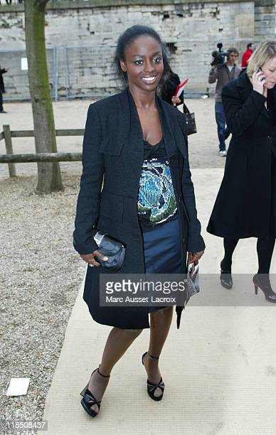 Aissa Maiga during Paris Fashion Week Fall/Winter 2007 Christian Dior Arrivals in Paris France