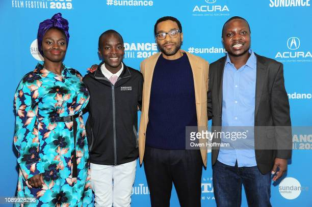 Aissa Maiga Maxwell Simba Chiwetel Ejiofor and William Kamkwamba attend the Netflix film The Boy Who Harnessed The Wind Sundance Film Festival Park...