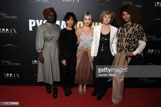 Aissa Maiga Naidra Ayadi Alix Benezech Anne Richard and Stefi Celma attend the Pygmalionnes premiere at Forum des Images on November 12 2019 in Paris...