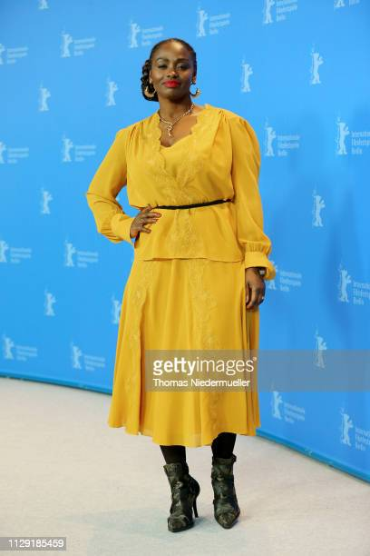 Aissa Maiga poses at the photocall for the Netflix film The Boy Who Harnessed The Wind during the 69th Berlinale International Film Festival Berlin...