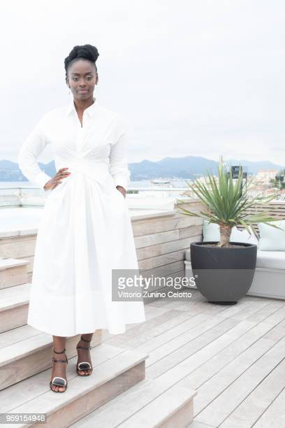 Aissa Maiga poses for a portrait session at the Kering suite on May 16 2018 in Cannes France