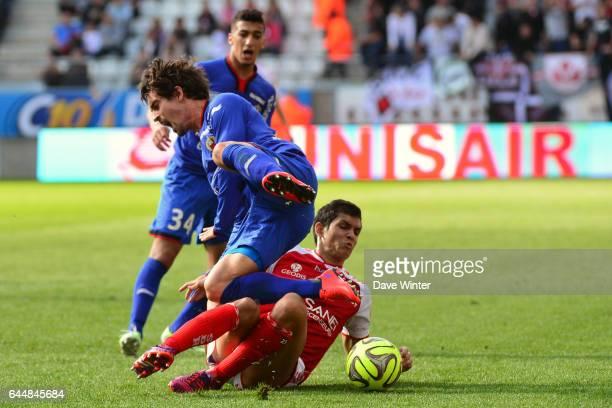 Aissa MANDI / Gregoire PUEL Reims / Nice 32eme journee de Ligue 1 Photo Dave Winter / Icon Sport