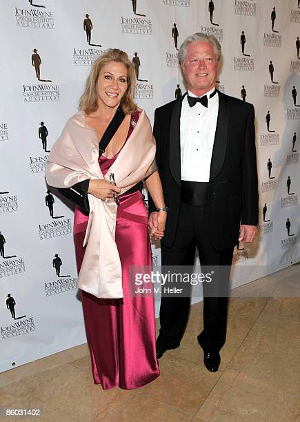 Aissa Wayne and Scott Conrad attend the 24th Annual Odyssey Ball at the Beverly Hilton Hotel on April 18, 2009 in Beverly Hills, California. The...