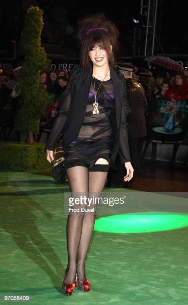 D aisy Lowe attends the Royal World Premiere of Tim Burton's 'Alice In Wonderland' at Odeon Leicester Square on February 25 2010 in London England