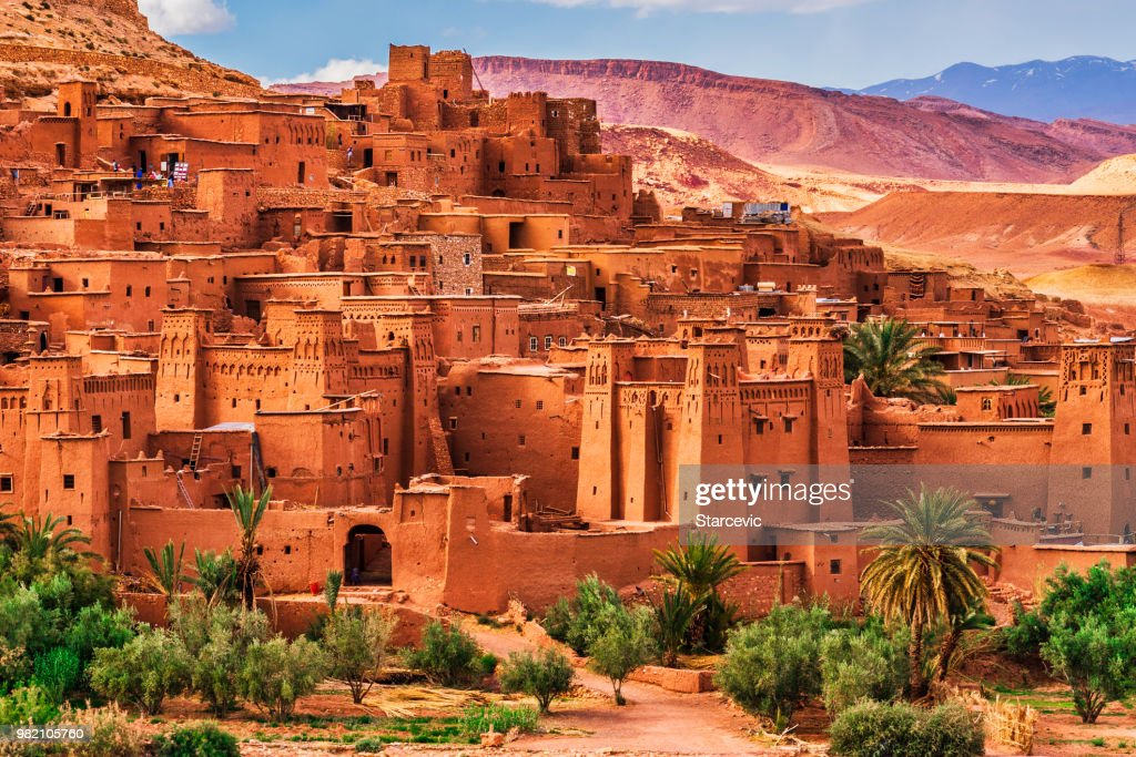 Ait Benhaddou - Ancient city in Morocco North Africa : Stock Photo