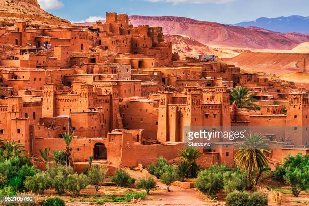 ait benhaddou - ancient city in morocco north africa - north africa stock photos and pictures