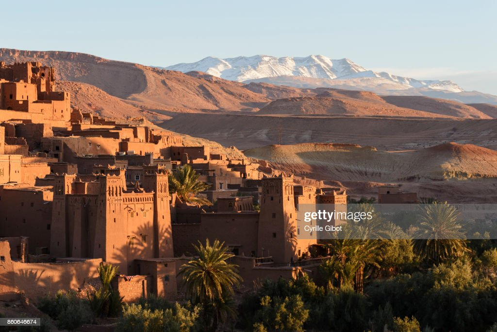 Ait Benhaddou Kasbah at dawn, Morocco : Stock Photo