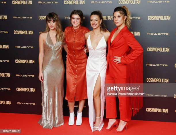 Aitana Ana Guerra Amaia Romero and Miriam Rodriguez attend the Cosmpolitan Awards at Florida Retiro on October 18 2018 in Madrid Spain