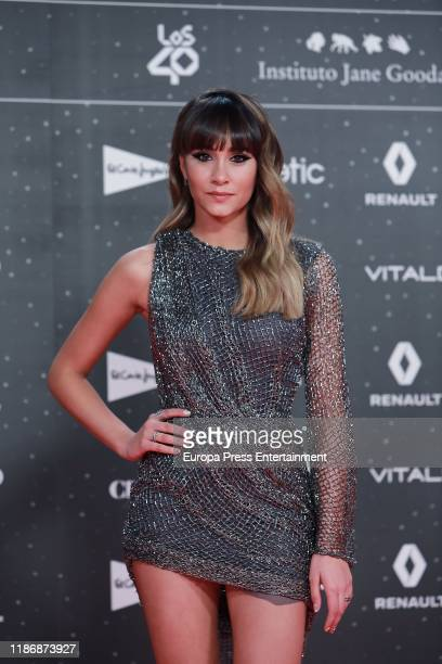 Aitana attends 'Los40 music awards 2019' photocall at Wizink Center on November 08 2019 in Madrid Spain