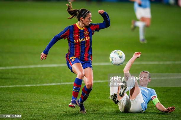 Aitana Bonmati of FC Barcelona during the UEFA Champions League Women match between PSV v FC Barcelona at the Johan Cruyff Stadium on December 16,...
