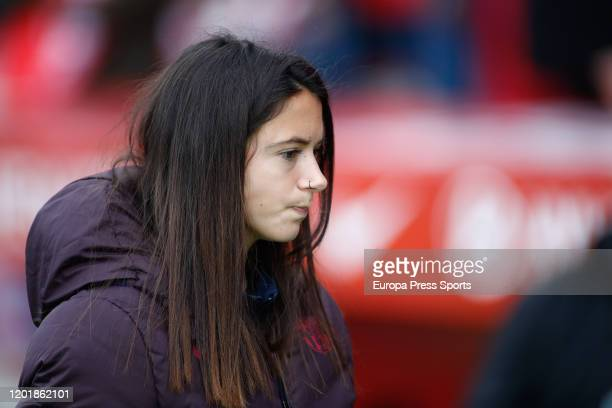 Aitana Bonmati of FC Barcelona looks on during the Spanish League Primera Iberdrola women football match played between Atletico de Madrid Femenino...