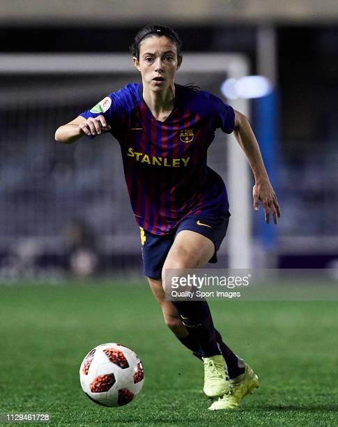 Aitana Bonmati of FC Barcelona runs with the ball during the Liga Iberdrola match at Mini Estadi on February 13 2019 in Barcelona Spain