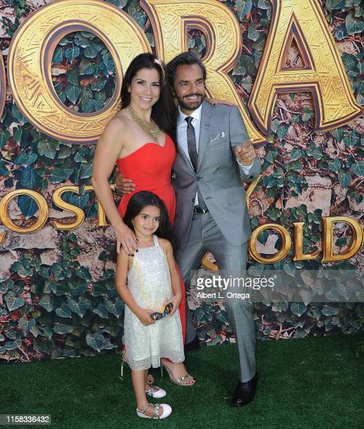 Aitana Derbez Alessandra Rosaldo and Eugenio Derbez attend the LA Premiere Of Paramount Pictures' Dora And The Lost City Of Gold held at Regal...