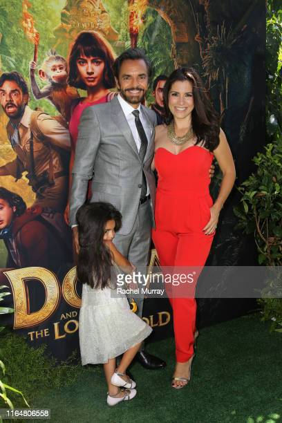Aitana Derbez Eugenio Derbez and Alessandra Rosaldo attend the Dora and the Lost City of Gold World Premiere at the Regal LA Live on July 28 2019 in...