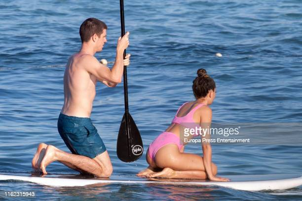 Aitana Ocaña and Miguel Bernardeau are seen on July 15 2019 in Ibiza Spain