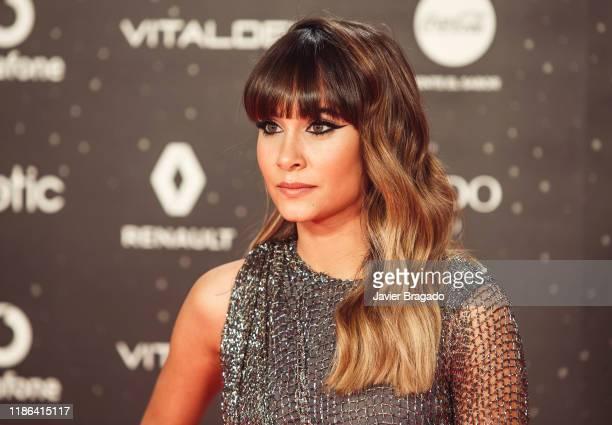 Aitana Ocaña attends 'Los40 music awards 2019' photocall at Wizink Center on November 08 2019 in Madrid Spain
