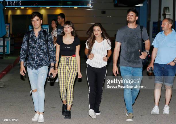 Aitana Ocana Ana Guerra and Luis Cepeda attend Parque Warner Beach Summer Party on June 21 2018 in Madrid Spain