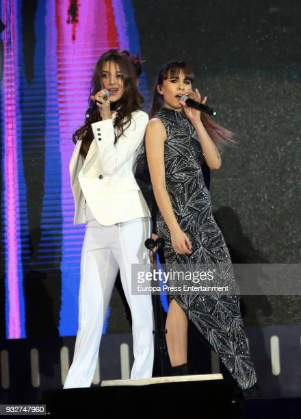 Aitana Ocana and Ana Guerra from Aitana War during the 'Cadena Dial' Awards gala 2018 on March 15 2018 in Tenerife Spain