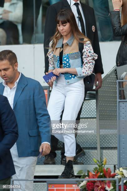 Aitana Ocana is seen attending the Mutua Madrid Open tennis tournament at the Caja Magica on May 10 2018 in Madrid Spain