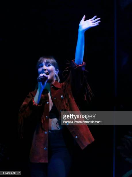 Aitana Ocana performs in concert with Morat at Wizink Center on May 12 2019 in Madrid Spain