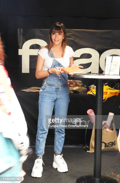 Aitana Ocana signs books during Sant Jordi's Day 2019 on April 23 2019 in Madrid Spain