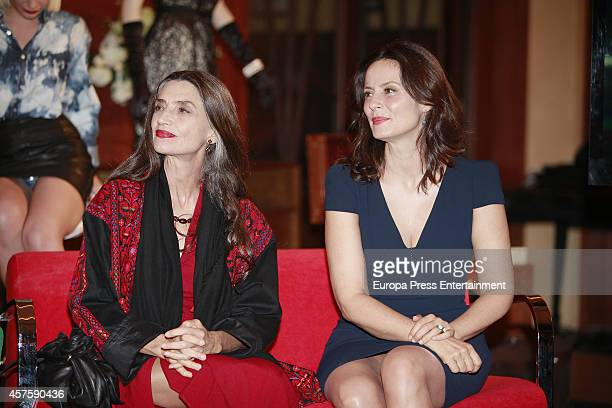 Aitana Sanchez Gijon and Angela Molina attend 'Velvet' 2nd season presentation on October 20 2014 in Madrid Spain