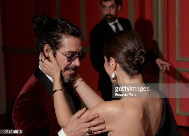 Aitana Sanchez Gijon and Oscar Jaenada attend the 'GQ Men of the Year' awards photocall at Palace hotel on November 22 2018 in Madrid Spain