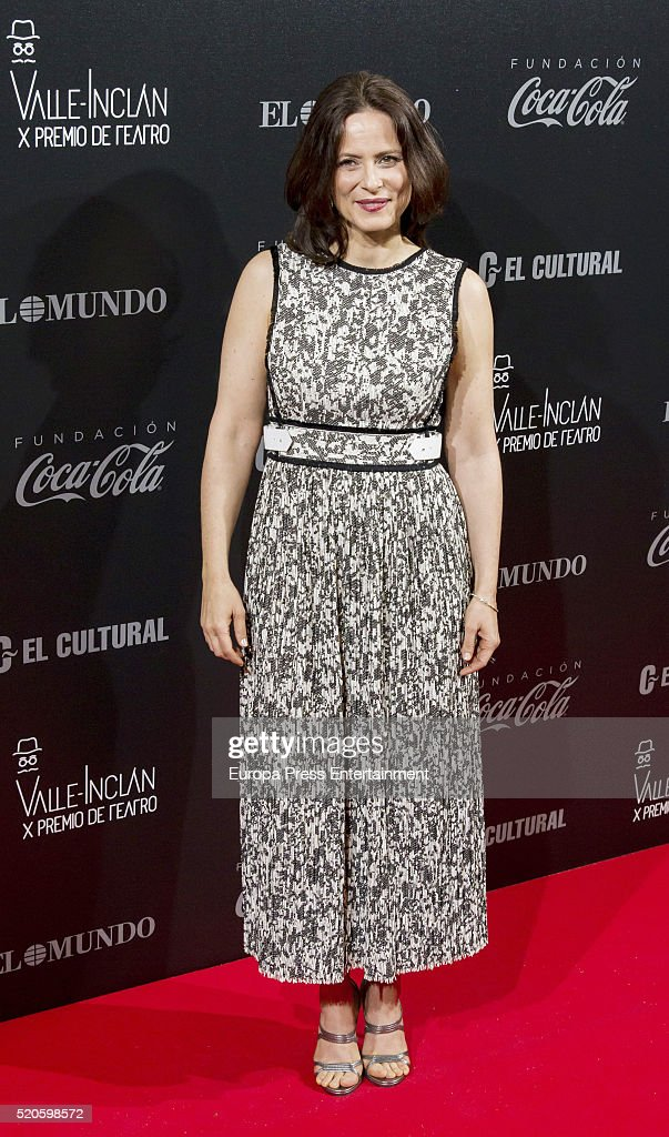 Aitana Sanchez Gijon attends the Valle-Inclan Theatre Awards at Teatro Real on April 11, 2016 in Madrid, Spain.