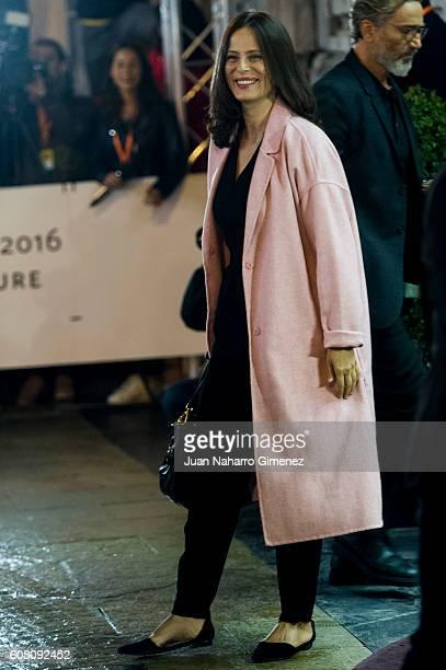 Aitana Sanchez Gijon is seen arriving at Hotel Maria Cristina on September 19 2016 in San Sebastian Spain