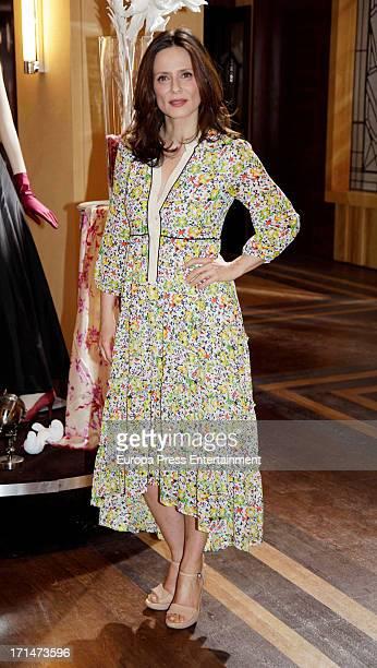 Aitana SanchezGijon is seen on set filming 'Galerias Velvet' on June 24 2013 in Madrid Spain
