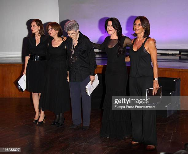 Aitana SanchezGijon Pilar del Rio Pilar Bardem Maria Pages and Pastora Vega take part in 'Remembering Saramago' an homage to the Portuguese writer...