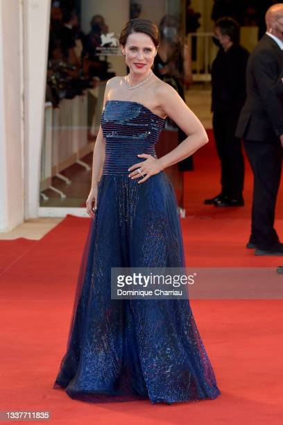 """Aitana Sánchez-Gijón attends the red carpet of the movie """"Madres Paralelas"""" during the 78th Venice International Film Festival on September 01, 2021..."""