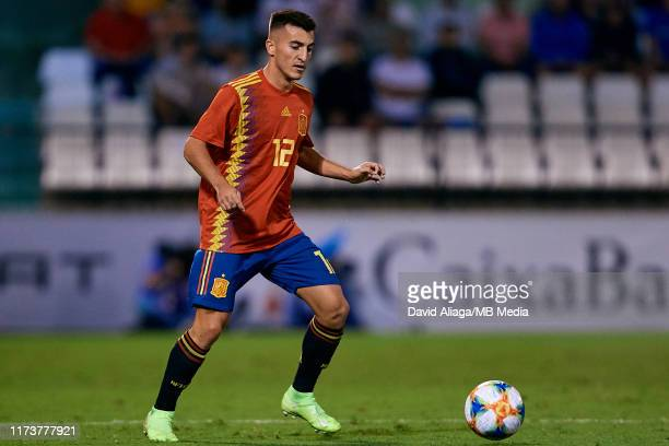Aitor Bunuel of Spain in action during the UEFA European Under-21 Championship Qualifying between Spain and Montenegro at Nou Estadi Castalia on...