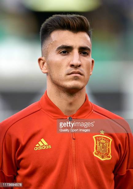 Aitor Bunuel of Spain looks on prior to the 2019 UEFA European Under-21 Championship match between Spain and Montenegro at Nuevo Estadio Castalia on...