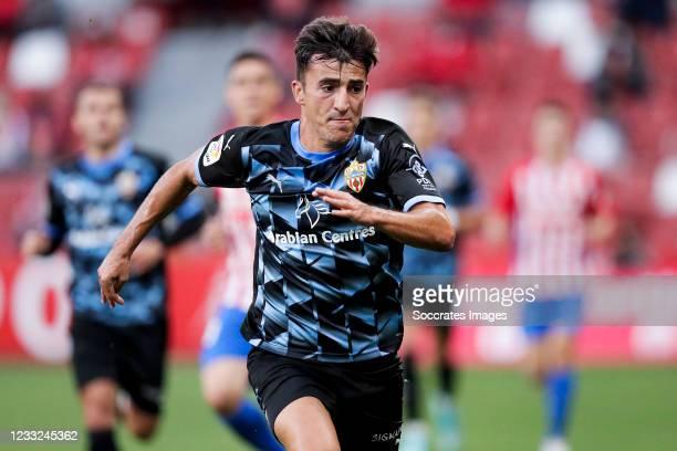 Aitor Bunuel of UD Almeria during the La Liga SmartBank match between Sporting Gijon v UD Almeria at the Estadio El Molinon on May 30, 2021 in Gijon...