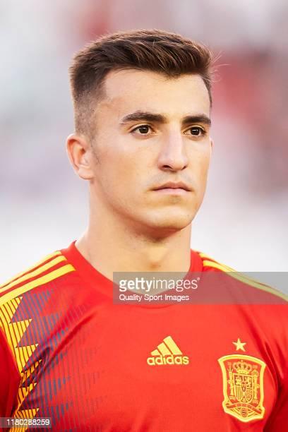Aitor Buñuel of Spain looks on prior to an International Friendly match between Spain U21 and Germany U21 at Estadio Nuevo Arcangel on October 10,...