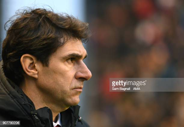 Aitor Karanka manager / head coach of Nottingham Forest during the Sky Bet Championship match between Wolverhampton and Nottingham Forest at Molineux...