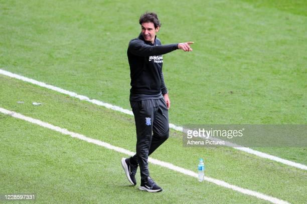 Aitor Karanka Manager of Birmingham City during the Sky Bet Championship match between Swansea City and Birmingham City at the Liberty Stadium on...