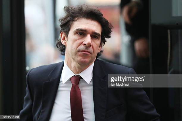 Aitor Karanka Manager of Middlesbrough arrives at the stadium prior to the Premier League match between Middlesbrough and West Ham United at the...