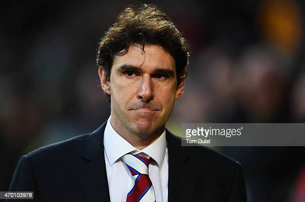 Aitor Karanka manager of Middlesbrough looks on prior to the Sky Bet Championship match between Norwich City and Middlesbrough at Carrow Road on...