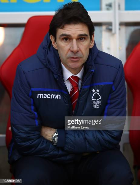 Aitor Karanka manager of Nottingham Forest looks on during the Sky Bet Championship match between Nottingham Forest and Leeds United at City Ground...
