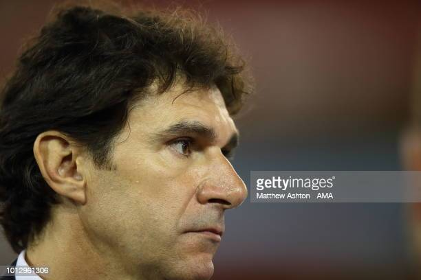 Aitor Karanka the head coach / manager of Nottingham Forest during the Sky Bet Championship match between Nottingham Forest v West Bromwich Albion at...