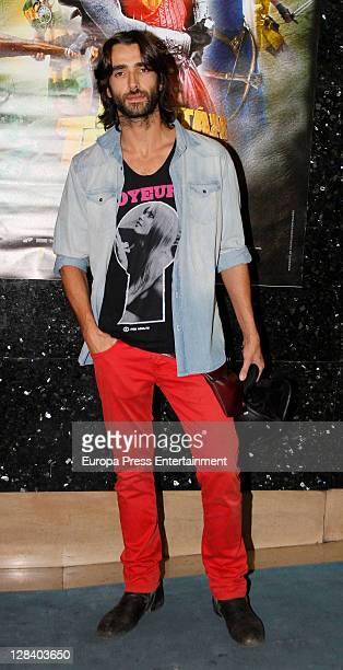 Aitor Luna attends 'Capitan Trueno' premiere on October 6, 2011 in Madrid, Spain.