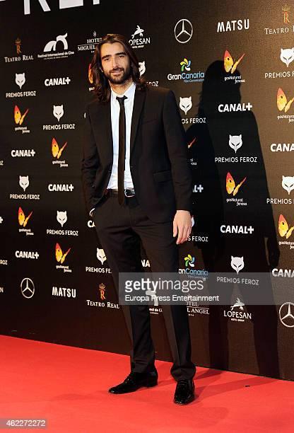 Aitor Luna attends the 2015 'Feroz' Cinema Awards at Gran Teatro Ruedo Las Ventas on January 25, 2015 in Madrid, Spain.