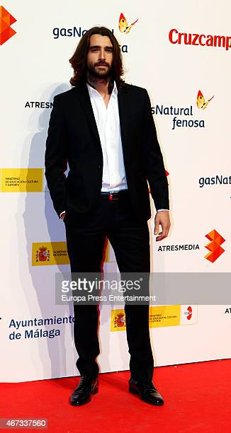 Aitor Luna attends the Malaga Film Festival cocktail presentation at Circulo de Bellas Artes on March 18 2015 in Madrid Spain