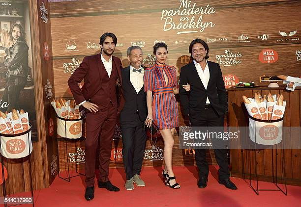 Aitor Luna Gustavo Ron Blanca Suarez and Enrique Arce attend the 'Mi Panaderia de Brooklyn' premiere at Capitol cinema on June 30 2016 in Madrid Spain