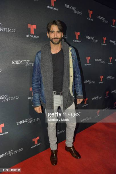 Aitor Luna on the red carpet for 'Enemigo Intimo 2' at Foro Lucerna on December 12, 2019 in Mexico City, Mexico.